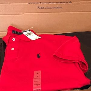 Polo Ralph Lauren Red Polo Mesh Shirt Size Small